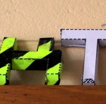 Some of the assembled 3D letters