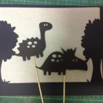 Shadow puppets of dinosaurs
