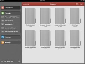 PDF Expert showing folders