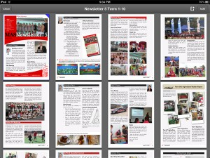 View of school newsletters stored in PDF Expert