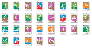 olympic sports symbol posters timtuckcom