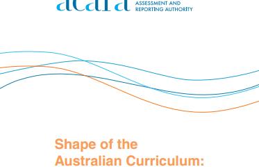 Australian Curriculum: The Arts Foundation to Year 10