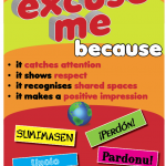 say excuse me because...