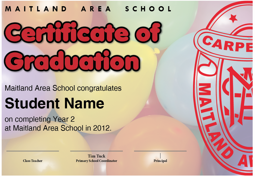Year 2 Graduation Certificate