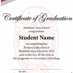 Year 7 Graduation Certificate