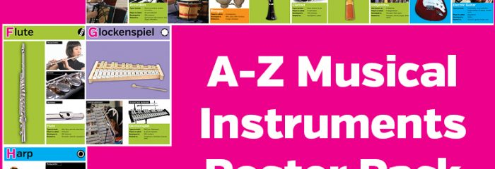 A-Z Musical Instruments Poster Pack